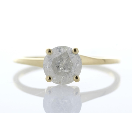 2 - Valued by GIE £11,575.00 - 18ct Yellow Gold Single Stone Prong Set Diamond Ring 1.14 Carats, Colour-...