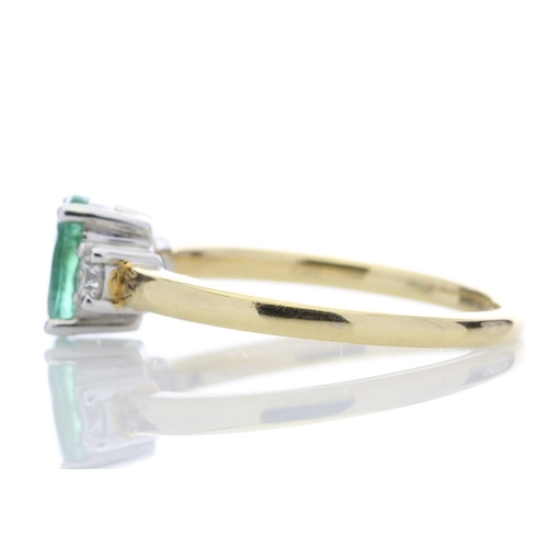 3 - Valued by GIE £4,176.00 - 18ct Yellow Gold Single Stone Claw Set With Stone Set Shoulders Diamond Ri...