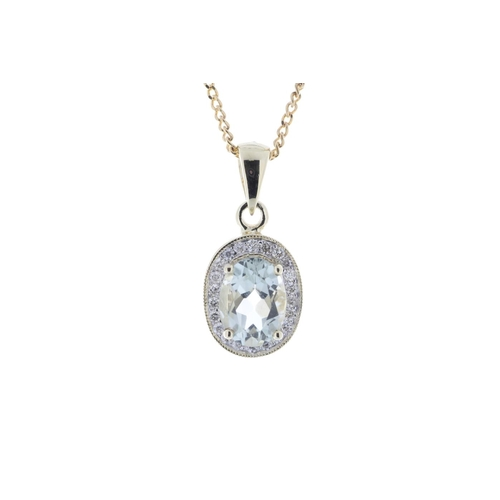 68 - Valued by GIE £1,405.00 - 9ct Yellow Gold Diamond And Green Amethyst Pendant 0.11 Carats, Colour-D, ...