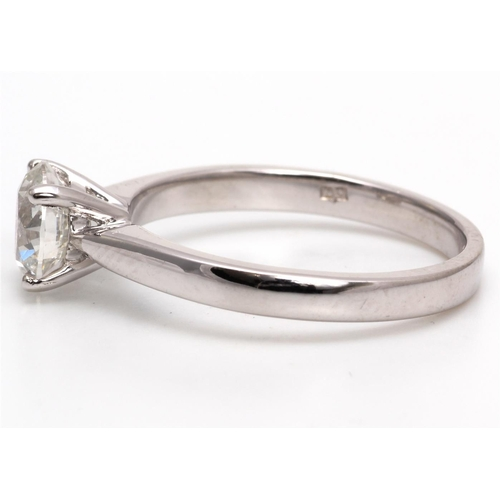 8 - Valued by AGI £20,590.12 - 18ct White Gold Single Stone Diamond Ring 1.05 Carats, Colour-F, Clarity-...
