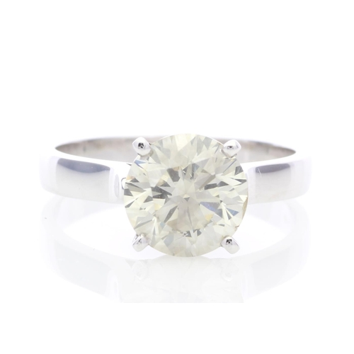 9 - Valued by GIE £80,000.00 - 18ct White Gold Single Stone Claw Set Diamond Ring 2.51 Carats, Colour-G,...