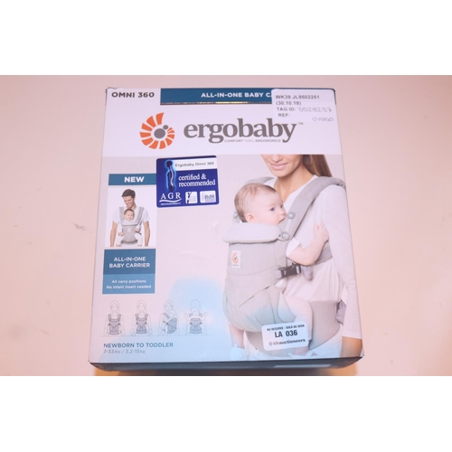 36 - ERGO BABY ALL IN 1 BABY CARRIER RRP £155 (30.08.18) (3528237)...