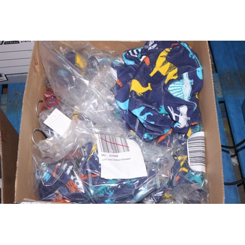 34 - BOX TO CONTAIN 8 JOHN LEWIS CHILDRENS DINOSAUR PONCHOS (04.10.18)...