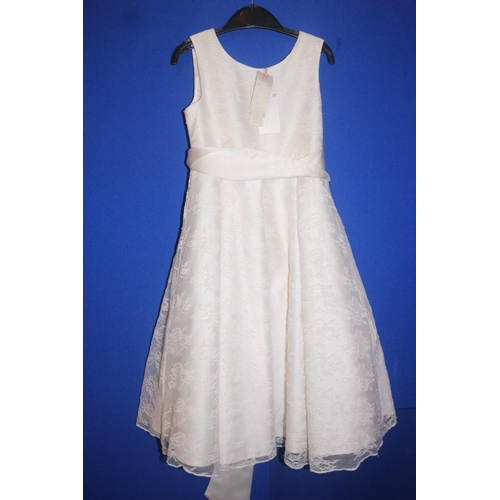 51 - JOHN LEWIS LACE DRESS IN IVORY RRP £45 (04.10.18)...