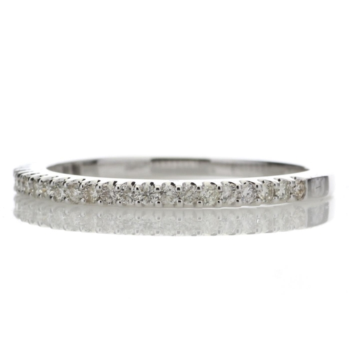 57 - Valued by GIE £2,487.00 - 9ct White Gold Diamond Half Eternity Ring 0.25 Carats, Colour-D, Clarity-V...