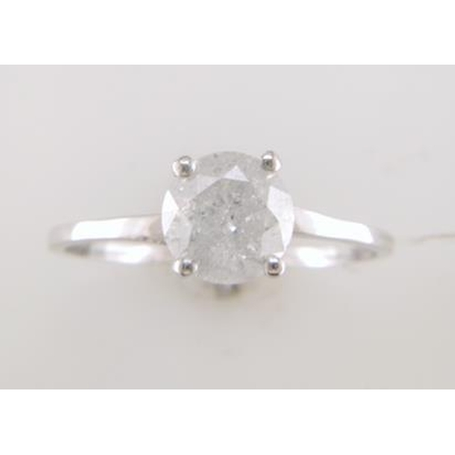 9 - Valued by GIE £11,829.00 - 18ct White Gold Single Stone Prong Set Diamond Ring 1.25 Carats, Colour-D...