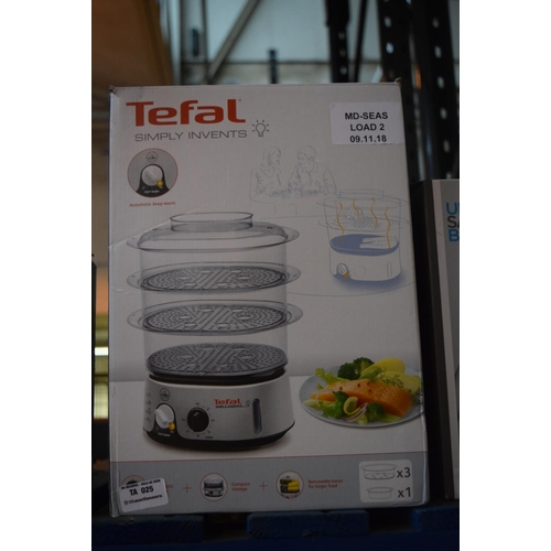 25 - 1X BOXED TEFAL SIMPLY INVENT STEAMER RRP £30 (09.11.18)...