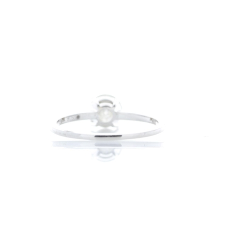 18 - Valued by GIE £10,805.00 - 18ct White Gold Single Stone Prong Set With Stone Set Shoulders Diamond R...