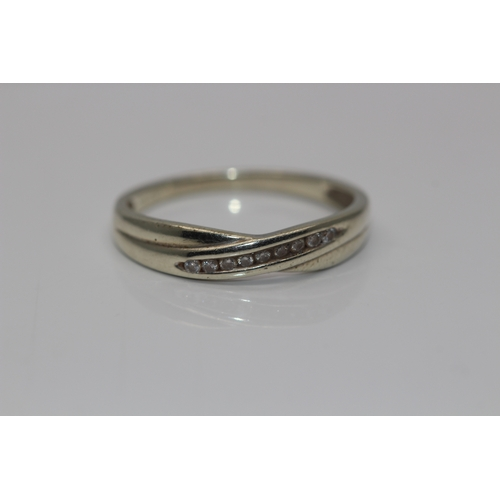 00A - 9CT YELLOW GOLD LADIES HALD ETERNITY RING SET WITH 9 BRILLIANT CUT NATURAL DIAMONDS APPROX DIAMOND W...