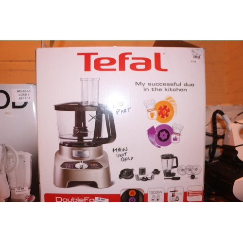 4 - TEFAL DOUBLE FORCE FOOD PROCESSOR (MISSING PARTS) (09.11.18)...