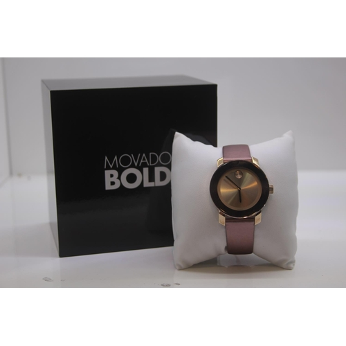 66 - BOXED BRAND NEW MOVADO BOLD WRIST WATCH COMPLETE WITH 2 YEARS INTERNATIONAL WARRANTY RRP £395...