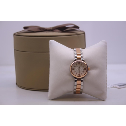 60 - BOXED BRAND NEW FREDERIQUE CONSTANT GENEVE LADIES WRIST WATCH COMPLETE WITH 2 YEARS INTERNATIONAL WA...