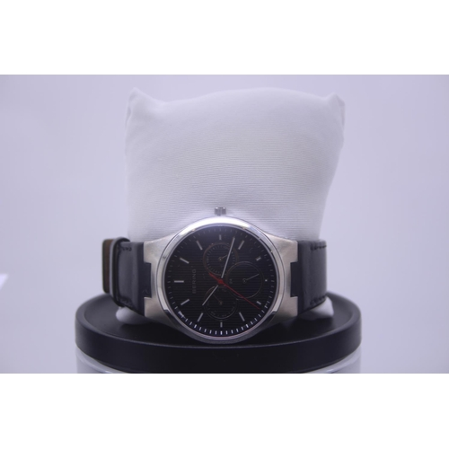 127 - BOXED BRAND NEW BERING DESIGNER WRIST WATCH COMPLETE WITH 2 YEARS INTERNATIONAL WARRANTY RRP £200...