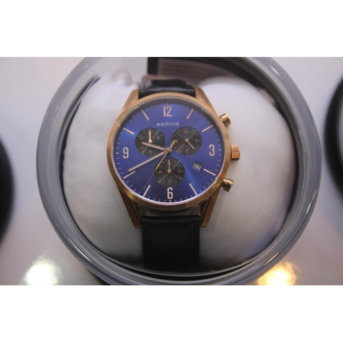 133 - BOXED BRAND NEW BERING DESIGNER WRIST WATCH COMPLETE WITH 2 YEARS INTERNATIONAL WARRANTY RRP £200...
