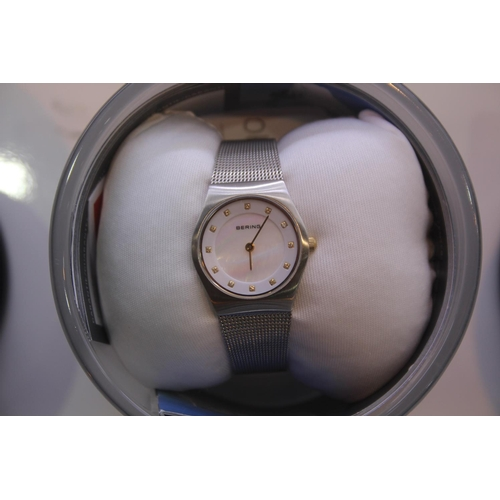 134 - BOXED BRAND NEW BERING DESIGNER WRIST WATCH COMPLETE WITH 2 YEARS INTERNATIONAL WARRANTY RRP £200...