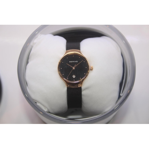 139 - BOXED BRAND NEW BERING DESIGNER WRIST WATCH COMPLETE WITH 2 YEARS INTERNATIONAL WARRANTY RRP £200...