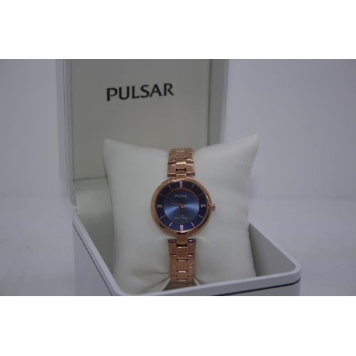 154 - BOXED BRAND NEW PULSAR DESIGNER WRIST WATCH COMPLETE WITH 2 YEARS INTERNATIONAL WARRANTY RRP £100...