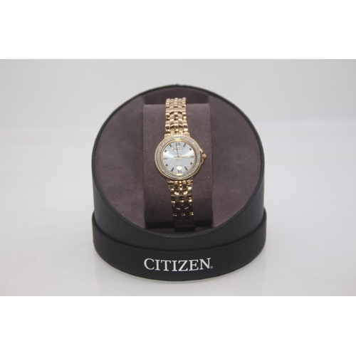 188 - BOXED BRAND NEW CITIZEN DESIGNER WRIST WATCH COMPLETE WITH 2 YEARS INTERNATIONAL WARRANTY RRP £269...
