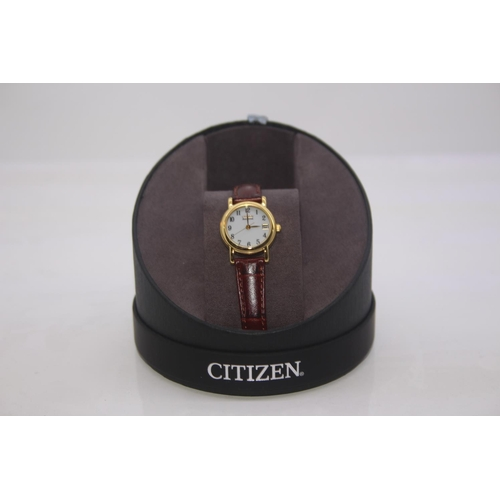 196 - BOXED BRAND NEW CITIZEN DESIGNER WRIST WATCH COMPLETE WITH 2 YEARS INTERNATIONAL WARRANTY RRP £229...
