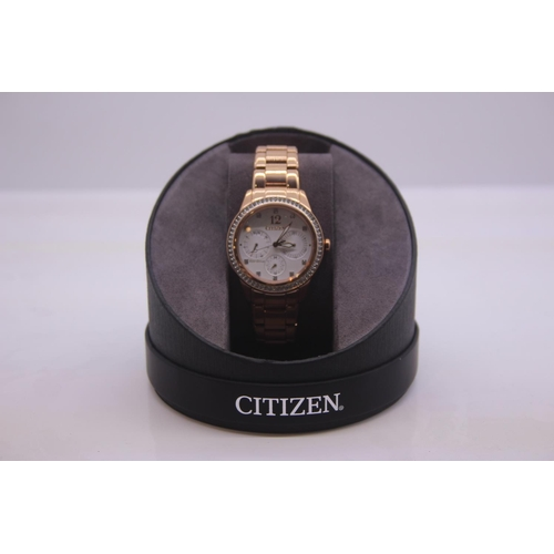 202 - BOXED BRAND NEW CITIZEN DESIGNER WRIST WATCH COMPLETE WITH 2 YEARS INTERNATIONAL WARRANTY RRP £229...