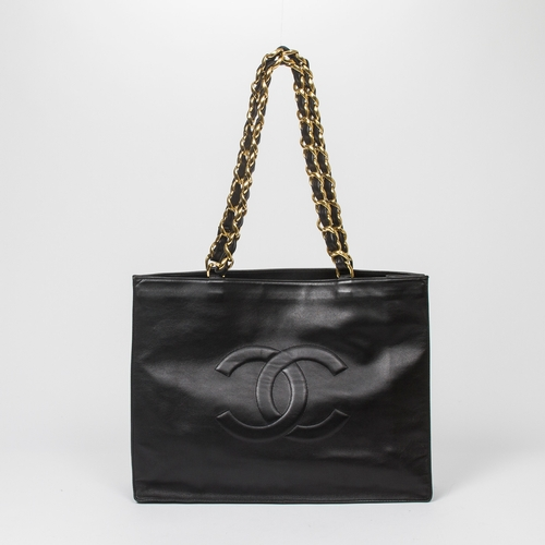 7 - CHANEL SHOULDER BAG - LARGE TOTE FRONT LOGO - RRP £4,100  CONDITION RATING - AA...