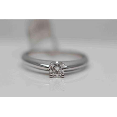 205 - **£1250.00** 9CT WHITE GOLD BRILLIANT CUT SOLITAIRE DIAMOND RING STONE WEIGHT: 0.33 CARAT, G COLOUR ...