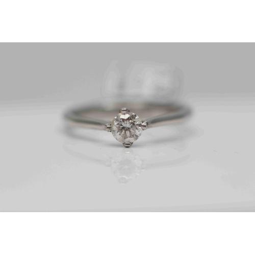 216 - **£1,650.00** PLATINUM SOLITAIRE DIAMOND RING DIAMOND WEIGHT (0.24 CARAT) COLOUR H CLARITY: SI-2 VAL...