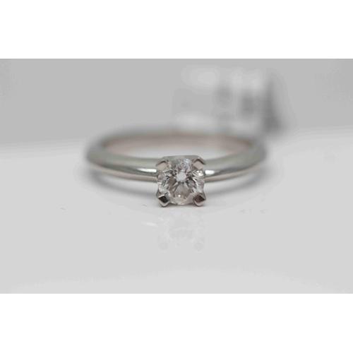 223 - **£3,250.00** PLATINUM BRILLIANT CUT DIAMOND SOLTIAIRE RING DIAMOND WEIGHT (0.59 CARAT) COLOUR: H CL...