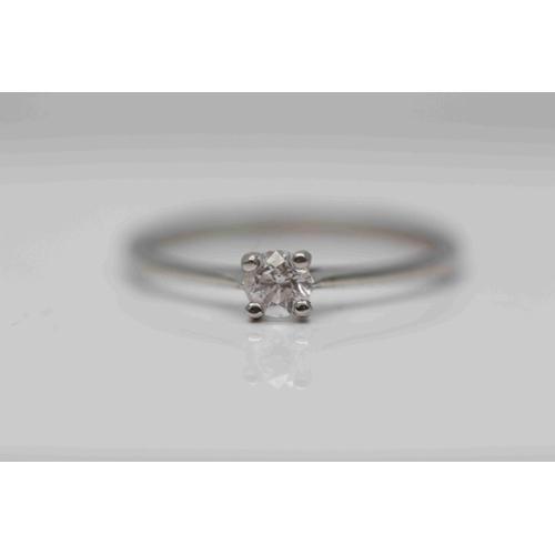 250 - **£895.00** PLATINUM BRILIANT CUT DIAMOND SOLITAIRE RING (0.23 CARAT) COLOUR: H CLAIRTY: SI-1 VALUE ...