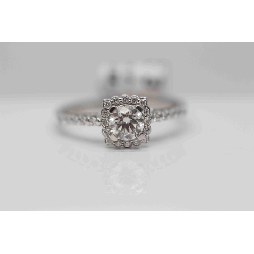 253 - **£3,250.00** PLATINUM OVAL DIAMOND SOLITAIRE RING (0.53 CARAT) COLOUR: H CLARITY: SI-1 VALUE £3250 ...