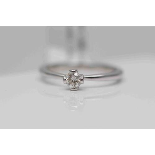 263 - **£1,100.00** 18CT WHITE GOLD BRILLIANT CUT SOLITAIRE DIAMOND RING (0.25 CARAT) COLOUR: H CLARITY: S...