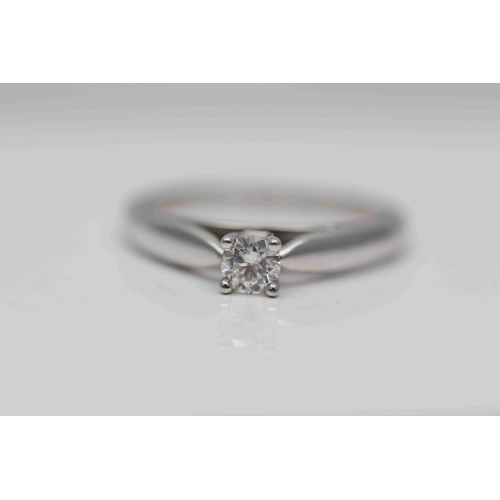 276 - **£1,250.00** 9CT WHITE GOLD BRILLIANT CUT SOLITAIRE DIAMOND RING (0.30 CARAT) COLOU: G CLARITY: SI-...
