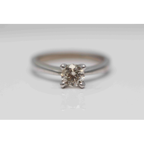 312 - **£3,950.00** 18CT WHITE GOLD BRILLIANT CUT DIAMOND SOLITAIRE RING STONE WEIGHT (0.70 CARAT) COLOUR:...