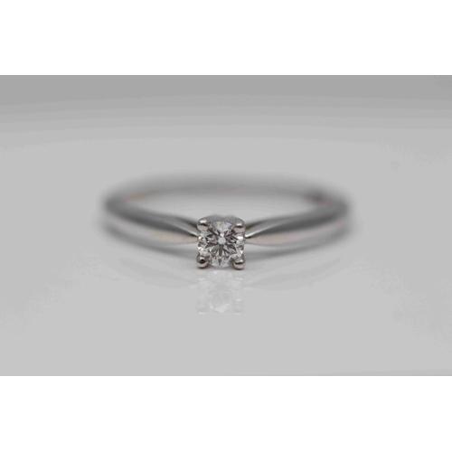 329 - **£795.00** 18CT WHITE GOLD BRILLIANT CUT DIAMOND SOLITAIRE RING, (0.15 CARAT) COLOUR: G CLARITY: VS...