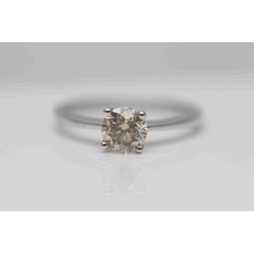 332 - **£4,950.00** 18CT WHITE GOLD BRILLIANT CUT DIAMOND SOLITAIRE RING DIAMOND WEIGHT (0.92 CARAT) COLOU...