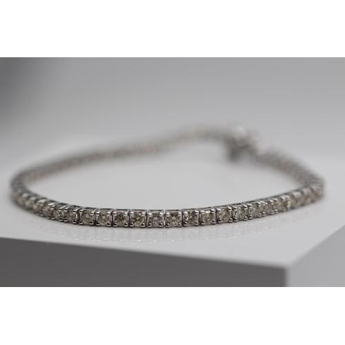 356 - **£4,950.00** 9CT WHITE GOLD 3.00 CARAT BRILLIANT CUT DIAMOND BRACELET COLOUR: H CLARITY: SI-1 VALUE...