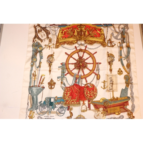 49 - HERMES SCARF - RRP £400  CONDITION RATING - AB...