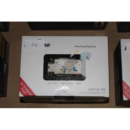 14 - 1 BOXED BINATONE LCD TOUCH SCREEN AND GPS 4.3