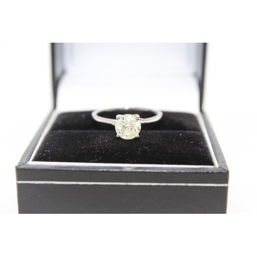 00D - **NO VAT** £3,250.00 ** 18CT WHITE GOLD ENGAGEMENT RING SET WITH A SINGLE BRILLIANT CUT DIAMOND SOLI...