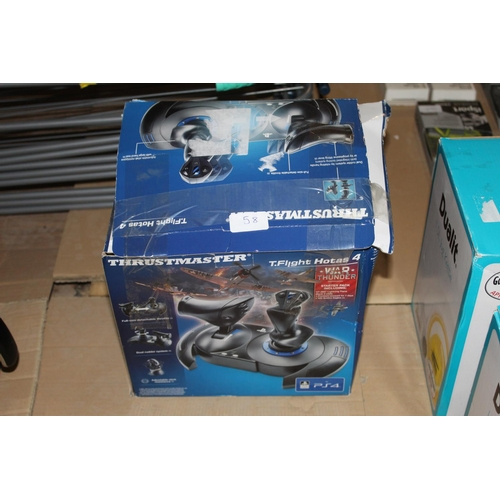 58 - BOXED SONY PS4 TRUSTMASTER T FLIGHT CONTROLLER RRP£100...