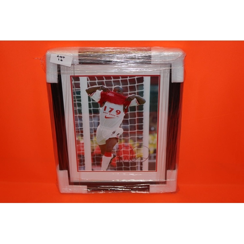 10 - 1X IAN WRIGHT SIGNED PHOTO, COMPLETE PROFESSIONALY FRAMED WITH AFTAL CERTIFICATE OF AUTHENTICATION...