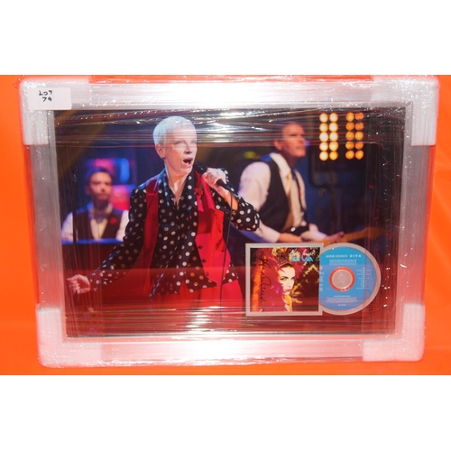 51 - 1X ANNIE LENNOW SIGNED CD COVER, COMPLETE PROFESSIONALLY FRAMED WITH AFTAL CERTIFICATE OF AUTHENTICA...