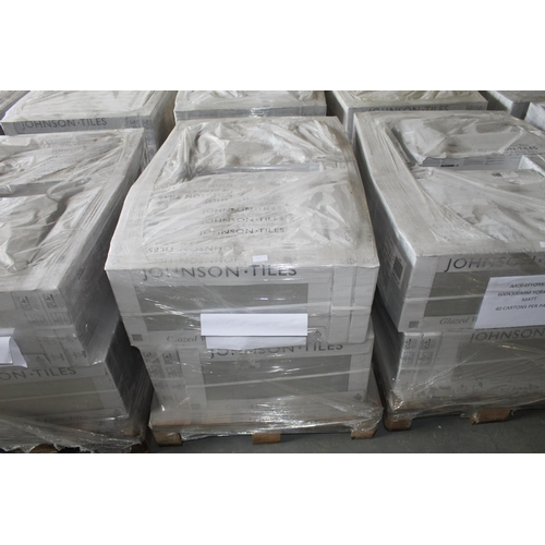 11 - 1X PALLET OF 40 BRAND NEW PACKS JOHNSON TILES 600X300 YORK FOSSIL MATT COVERS 36 SQM RRP £3200...