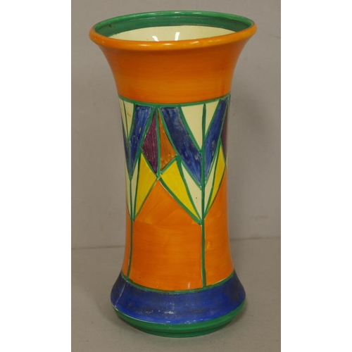 Clarice Cliff Bizarre Hand Painted Mantle Vase Geometric