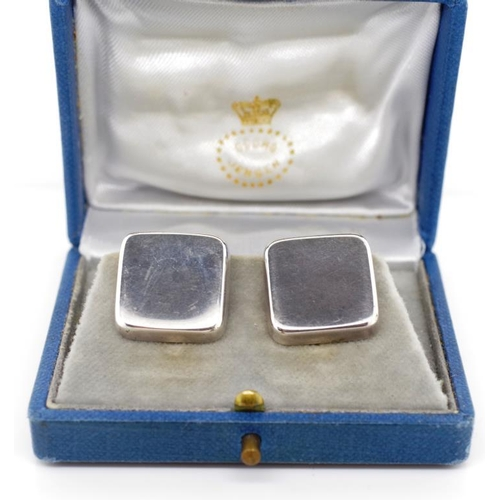 35 - Georg Jensen sterling silver ear clips design by Astrid Fog. Marked Jensen post 1945 mark 925 s #191...