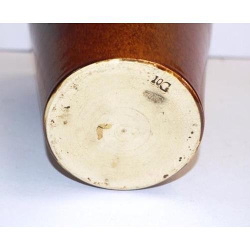 1067 - Vintage Bendigo Pottery mantle vase brown glaze, marked to base, (height 26cm approx)....
