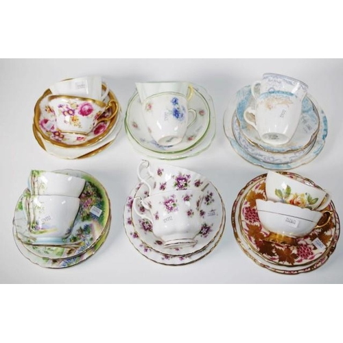 1113 - Twelve assorted English trios to include Royal Albert, Shelley & Royal Doulton...