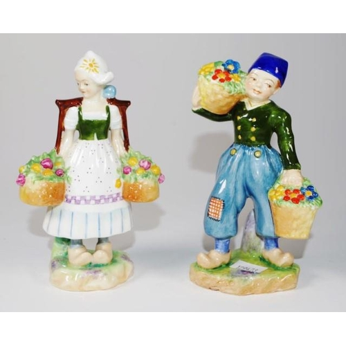 1133 - Two Royal Worcester Dutch girl & boy figurine both modelled by F.Gertner, to include no.2923 and no....