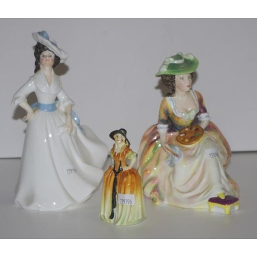 1142 - Two Royal Doulton figurines comprising Kathleen HN2933, 17cm high approx. & Margaret HN2397 together...