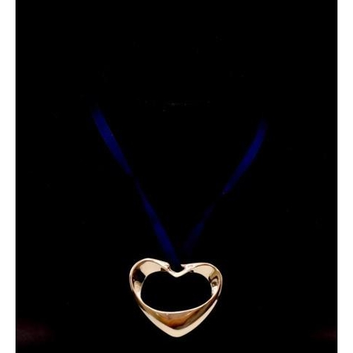 1243 - Georg Jensen #152A gold plated heart Xmas tree decoration by Henning Koppel...